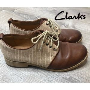 Clarks Artisan Women's Leather & Canvas Oxford